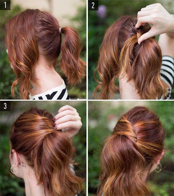 Cabello medio peinado sencillo