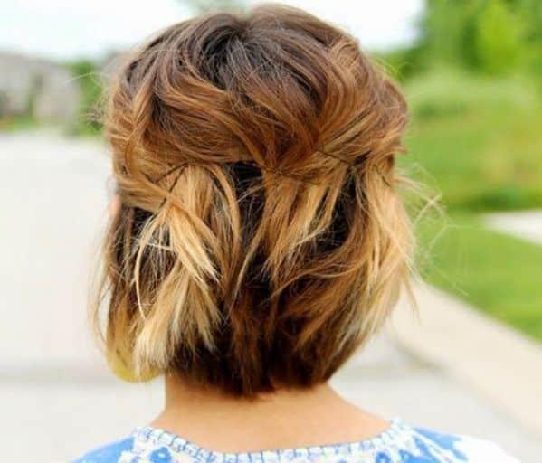 cabello corto con accesorios