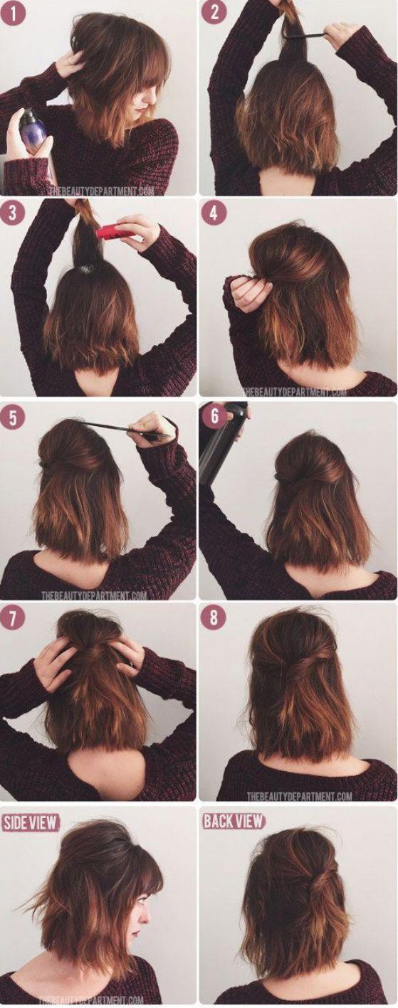 cabello corto peinado descomplicado