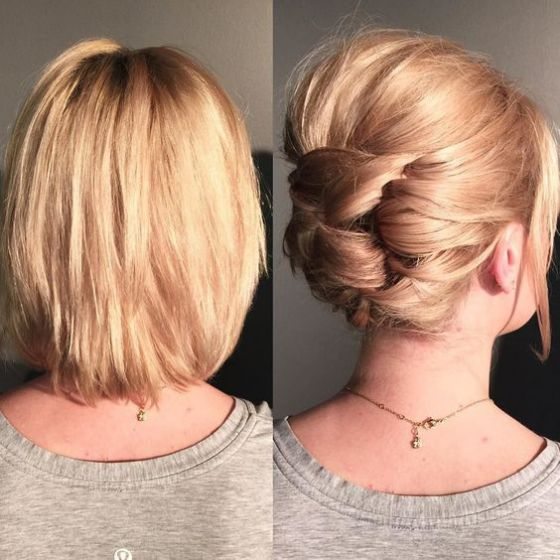 cabello corto recogido