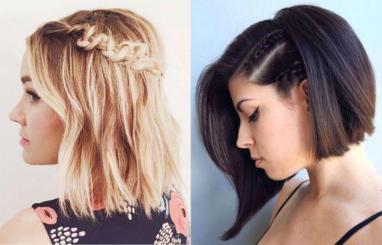 estos son algunos ejemplos de lo que podrs lograr con las trenzas y un cabello corto