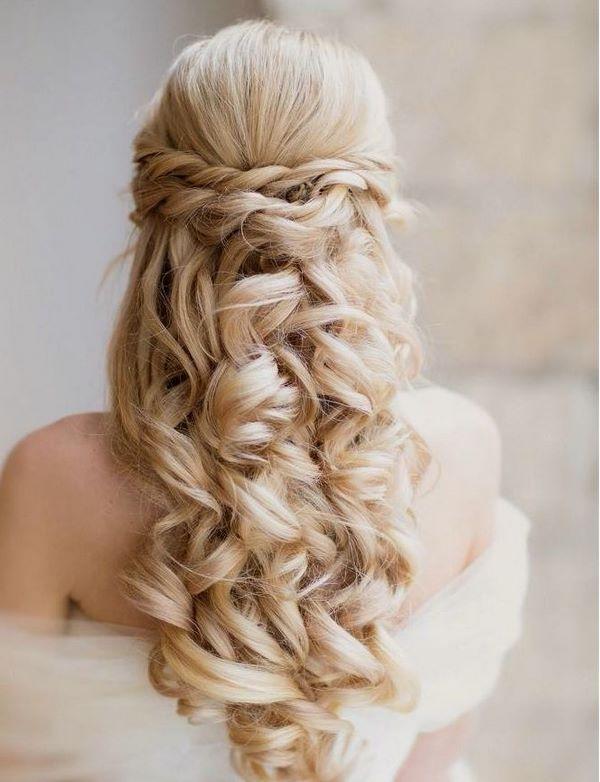 cabello largo para boda