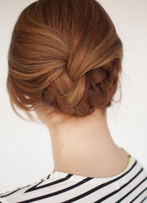 cabello recogido para la noche