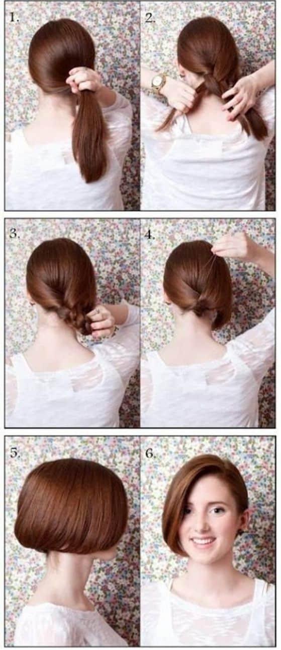 de pelo largo a corto peinado