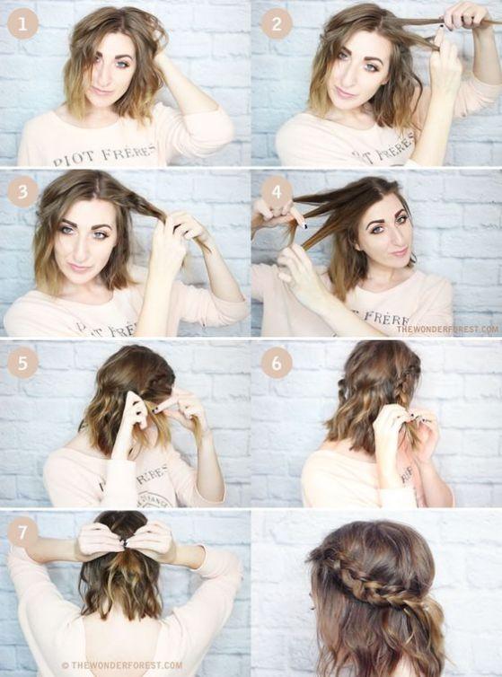 diadema cabello corto tutorial