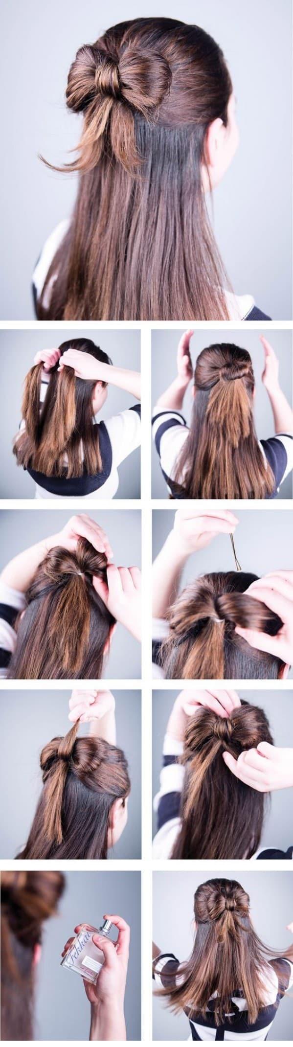32 Peinados Faciles Y Rapidos Paso A Paso Modelos 2018 - Recogidos-sencillos-paso-a-paso