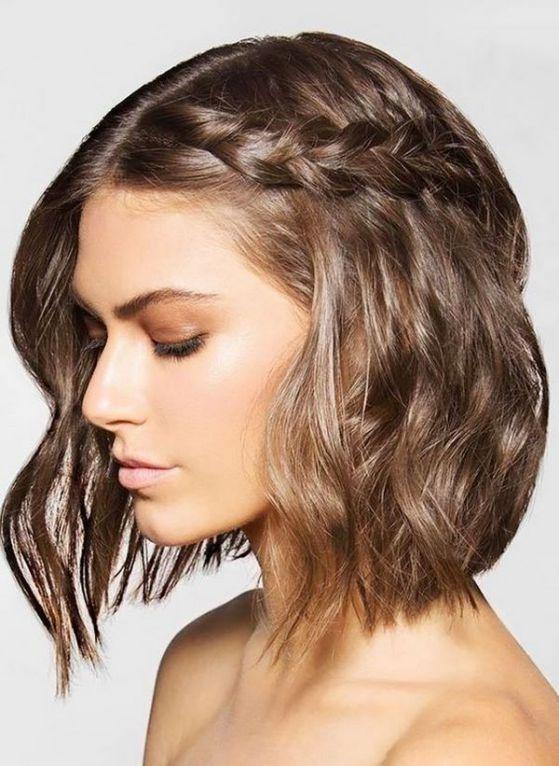peinados recogidos para pelo corto con flequillo