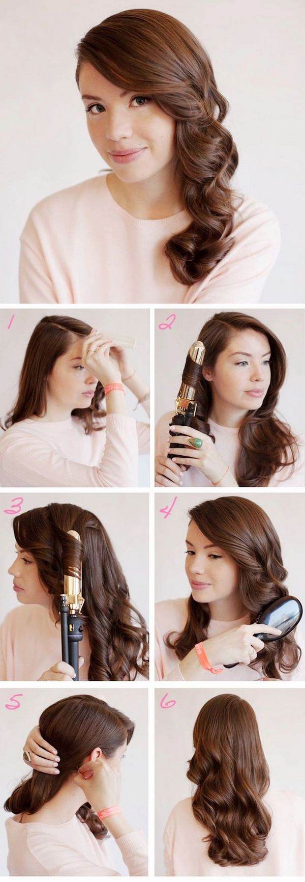 peinado ondulado sencillo