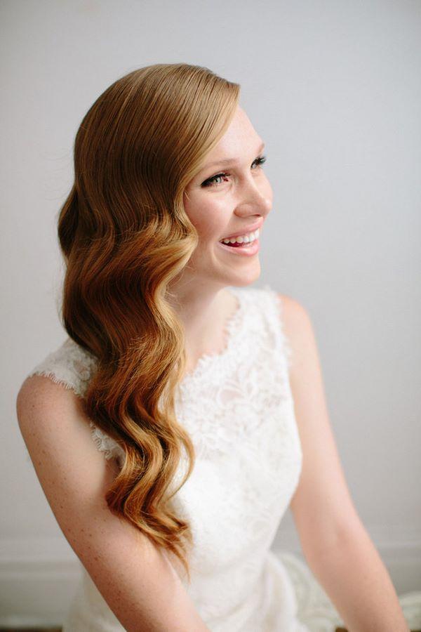 peinado para boda pelo ondulado