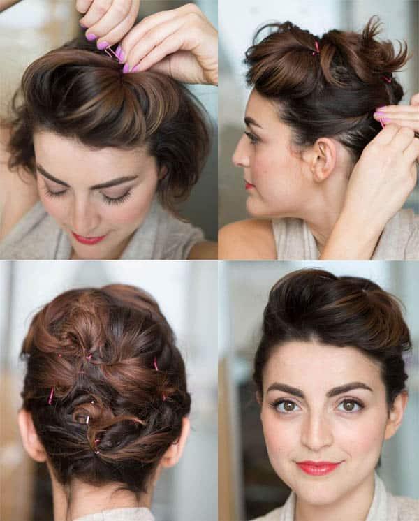 30 Peinados para cabello corto tutoriales y las ltima tendencias