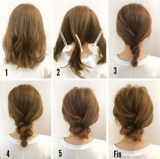 Peinados faciles pelo corto paso a paso