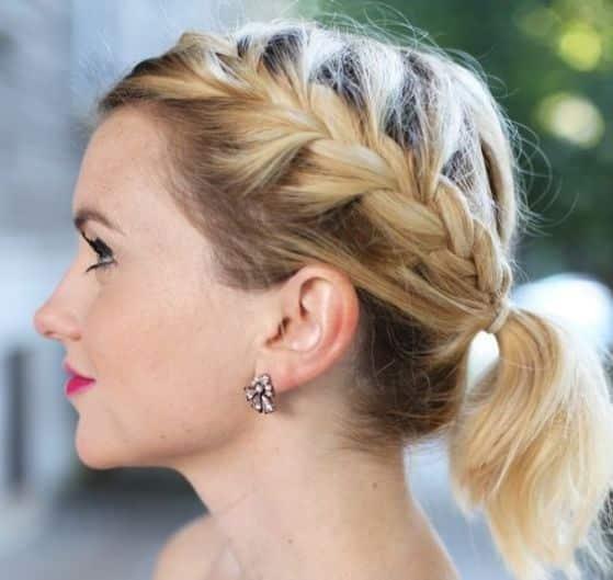 Peinados con Trenzas Fciles para pelo corto largo y recogido