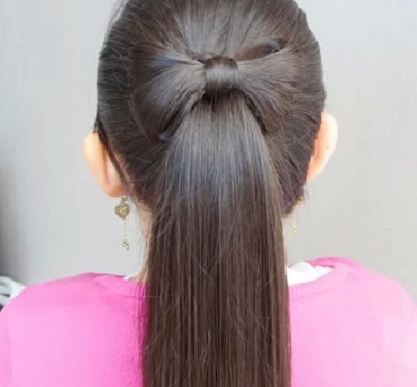 peinador largos con cola - Peinados De Ninas