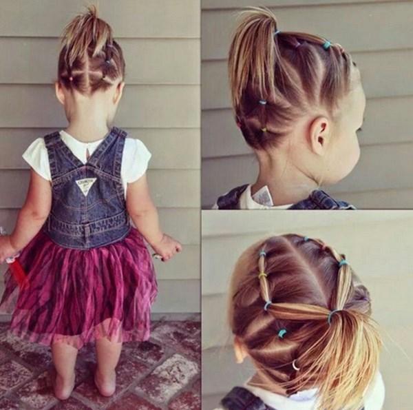 peinados con colitas para niñas