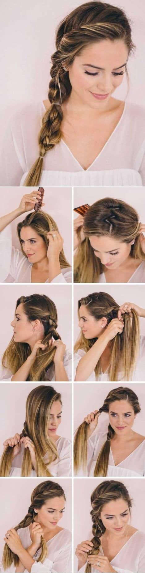 Peinados simples en pelo largo