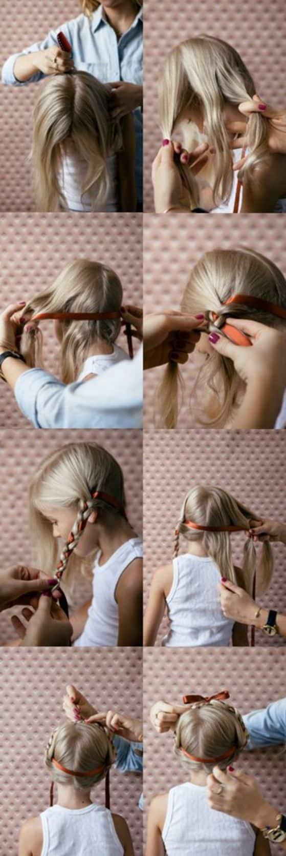 peinados-para-nina-con-cintas