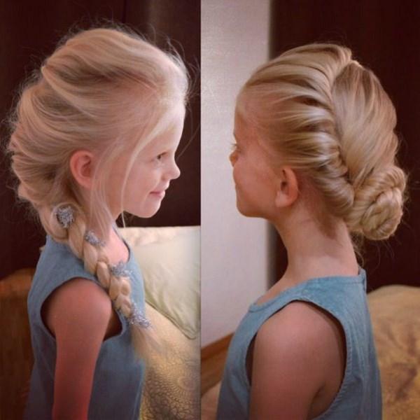 Peinados de nina con el pelo recogido