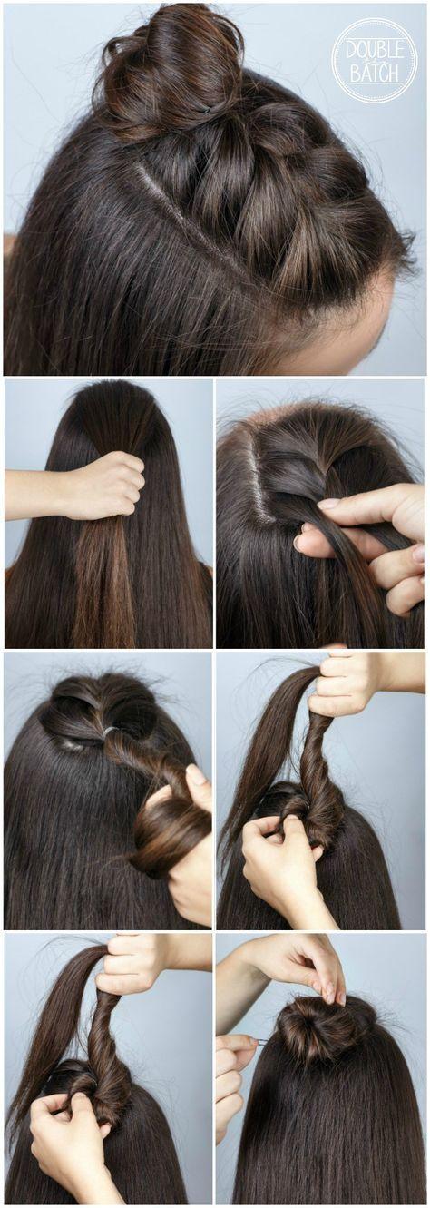 facil peinado para pelo largo