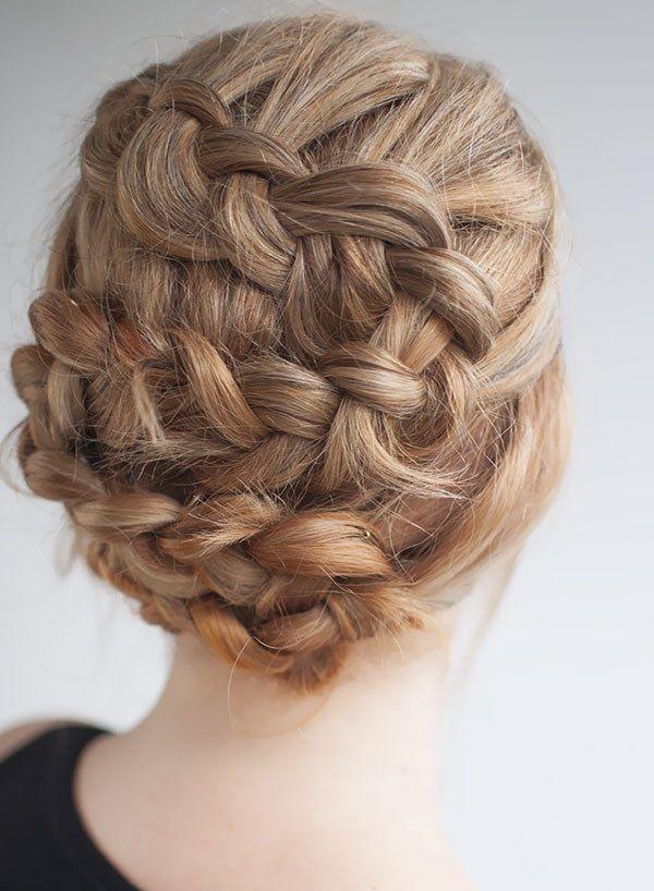 pelo en trenzas peinado para boda