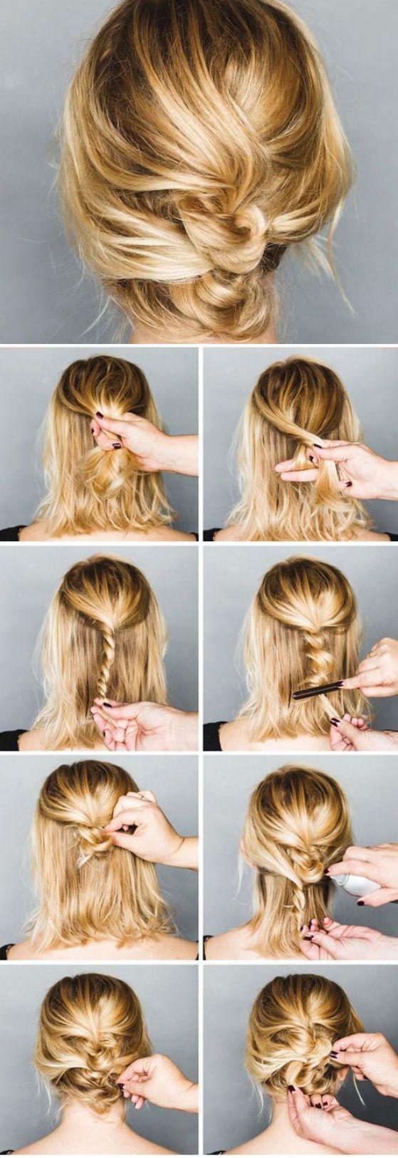 trenza paso a paso cabello corto