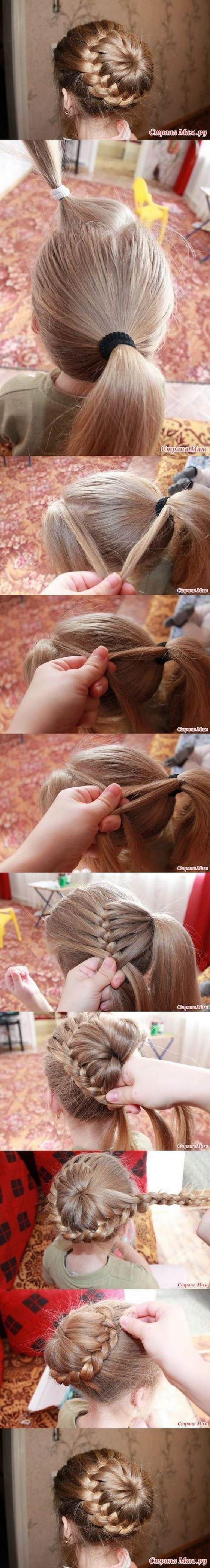 trenzado de pelo en forma de dona