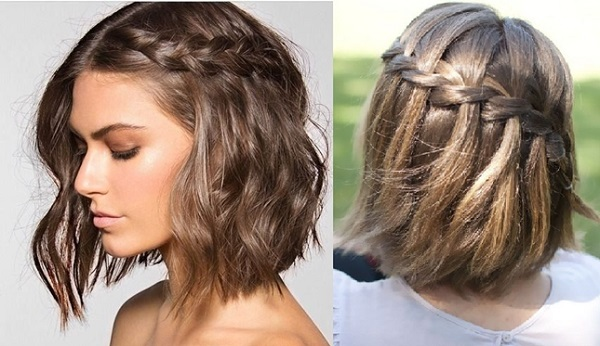 Peinados para graduacion cabello corto con trenza