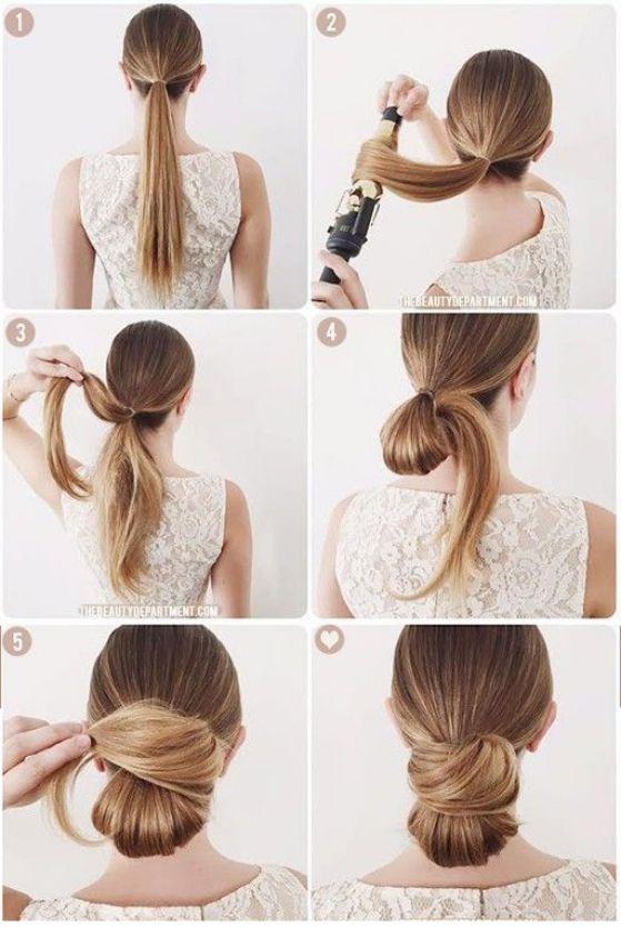bonito recogido para cabello largo