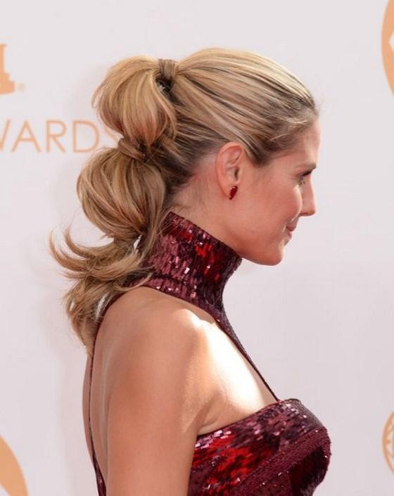 cabello en coleta peinado semirecogido