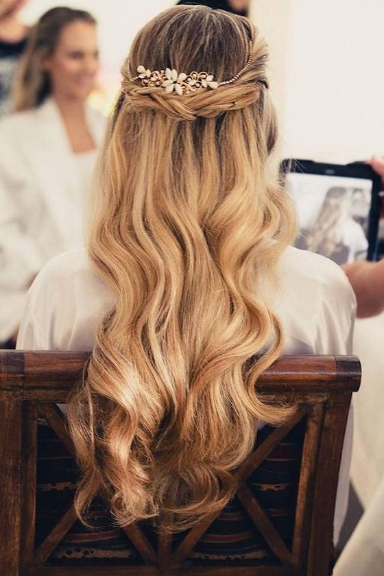 Peinados Para Fiesta Pelo Largo Suelto Peinados Novias