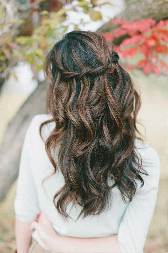 cabello largo trenza sencilla