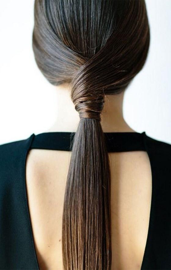 coleta peinado semirecogido