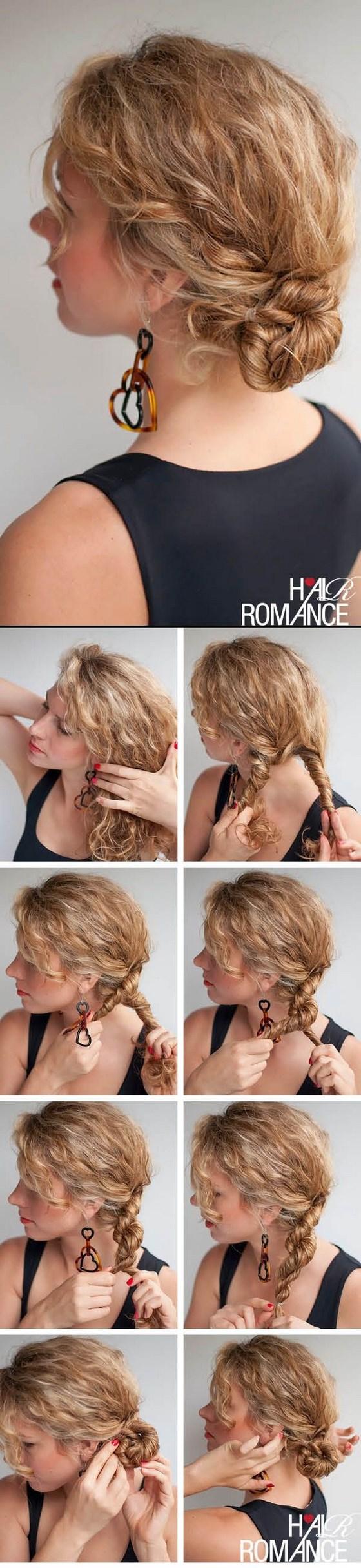 paso a paso recogido con cabello crespo