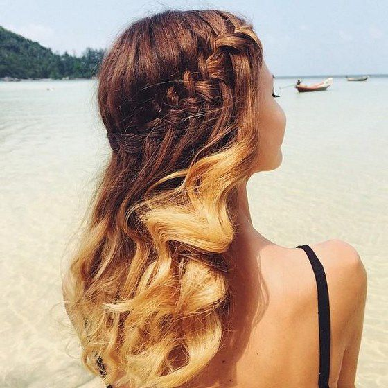peinado en caida de agua para pelo largo