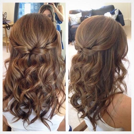 peinado largo con ondulados peinado largo semirecogido peinado