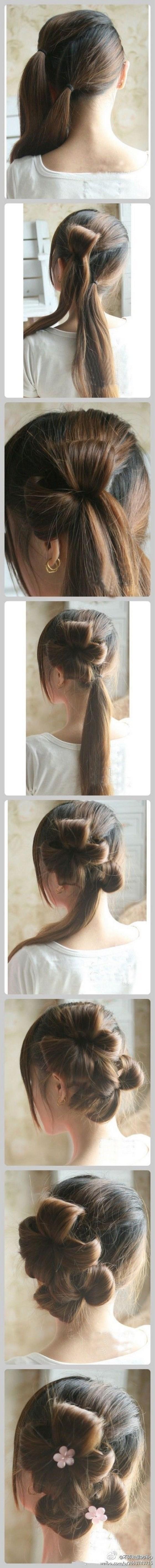 peinado recogido doble coleta