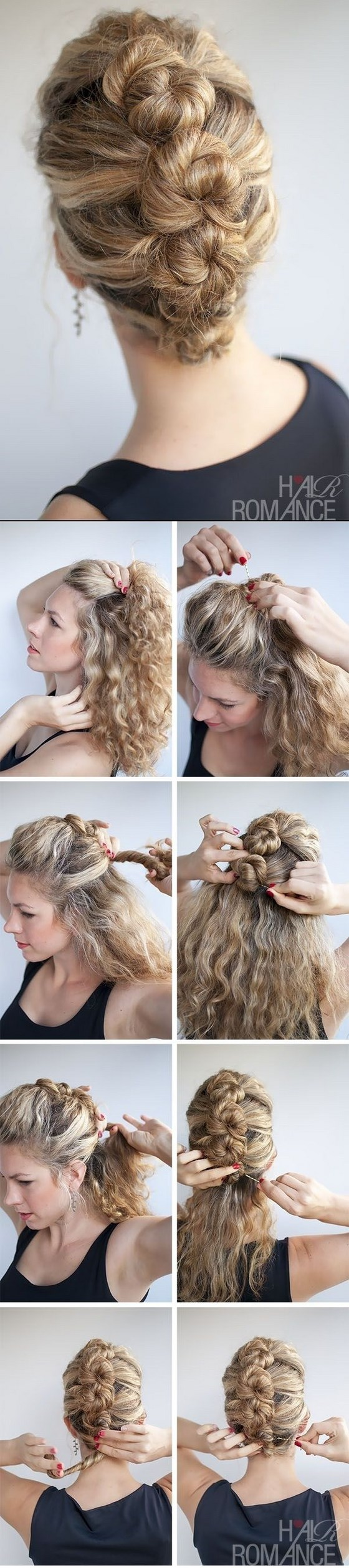 peinado recogido pelo crespo