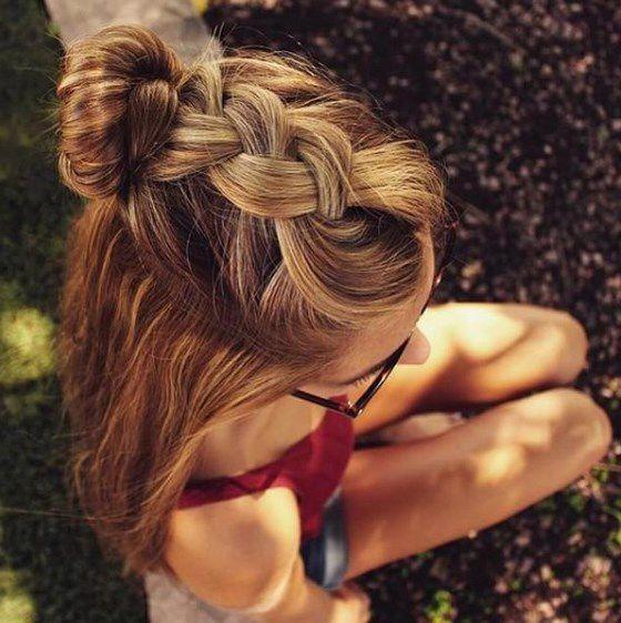 peinado recojido en dona pelo largo