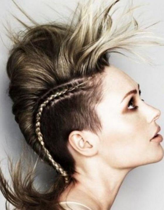 peinado rockero con trenzas