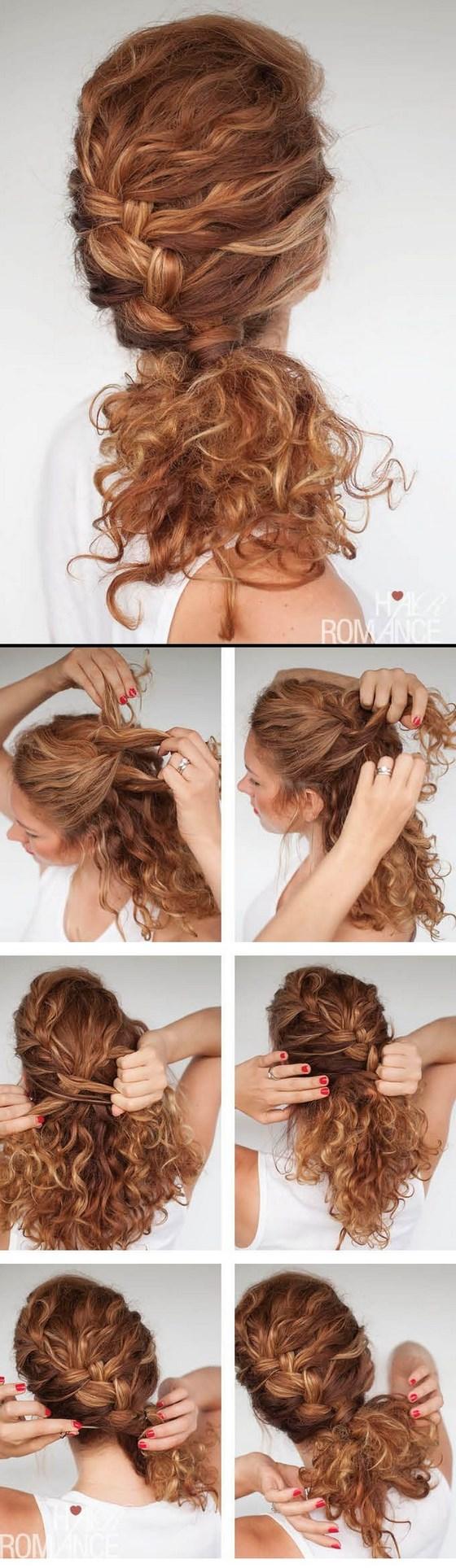 peinado semirecogido crespo