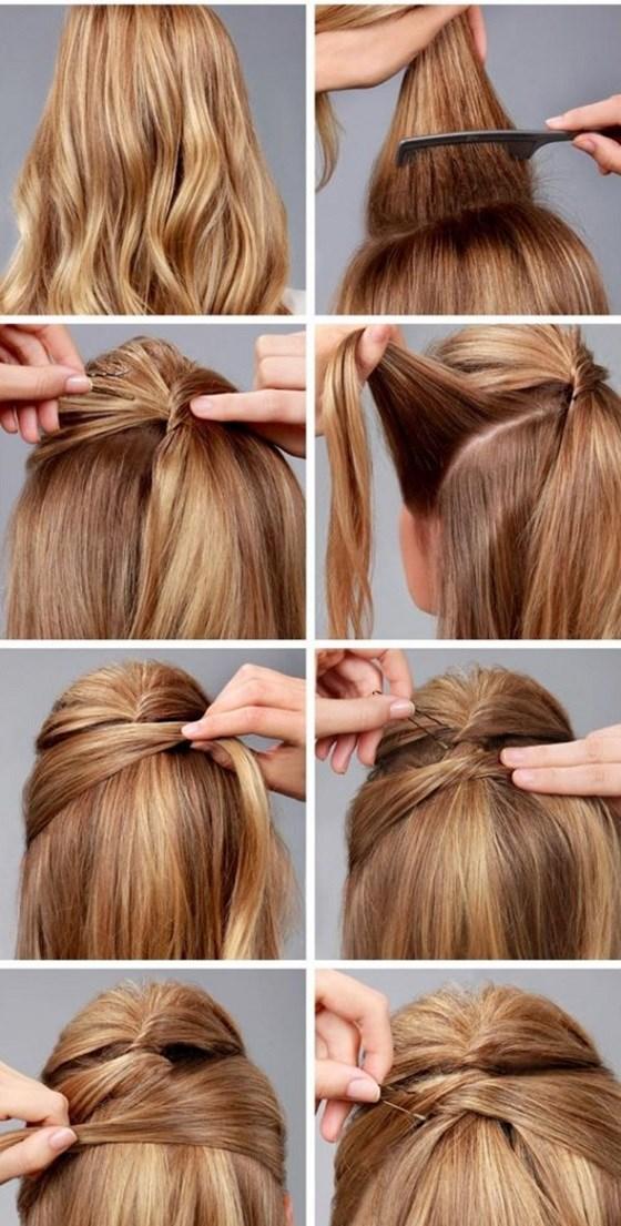 Peinado medio recogido tutorial