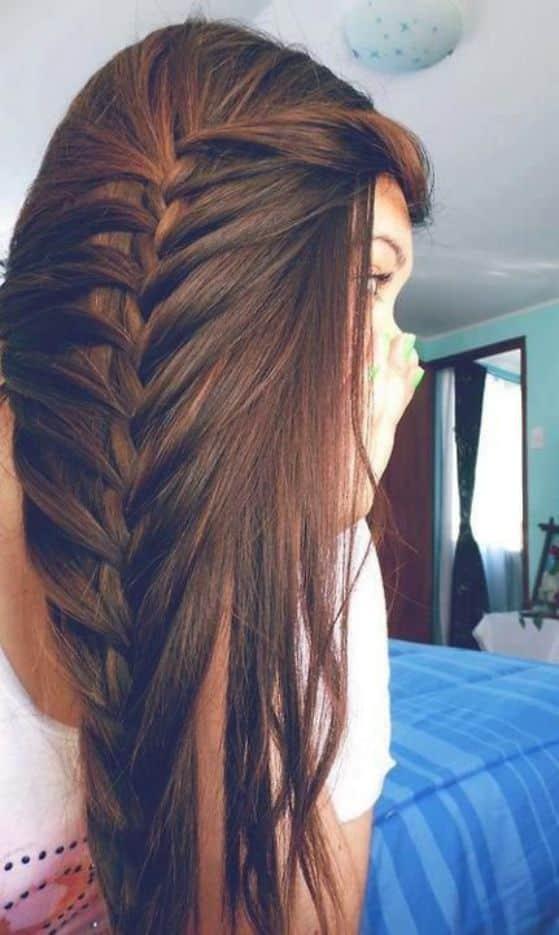 peinado trenzado cabello largo