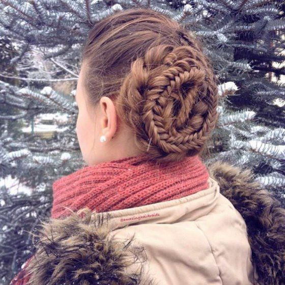 peinado trenzado en espiral