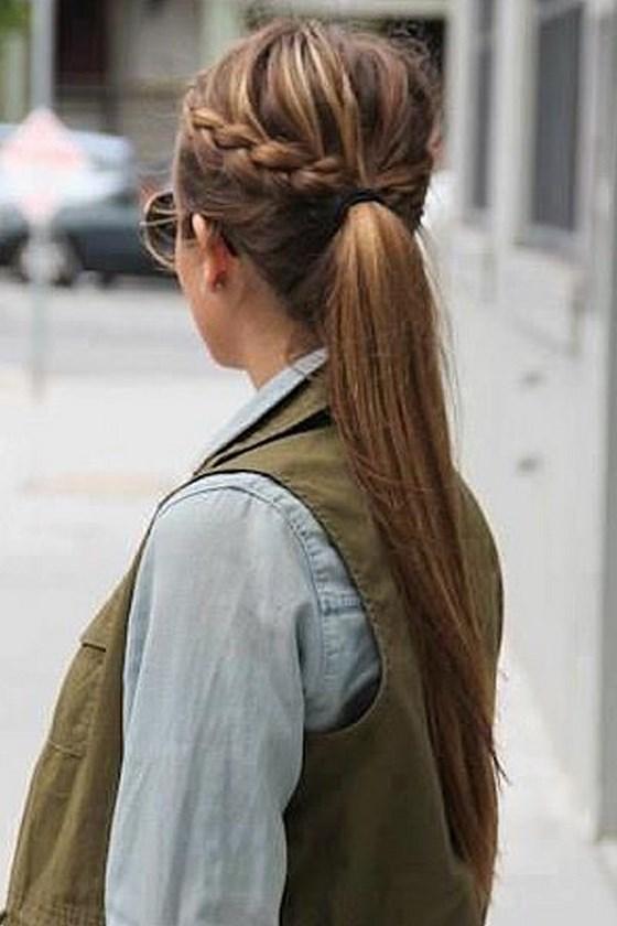 peinado trenzado semirecogido
