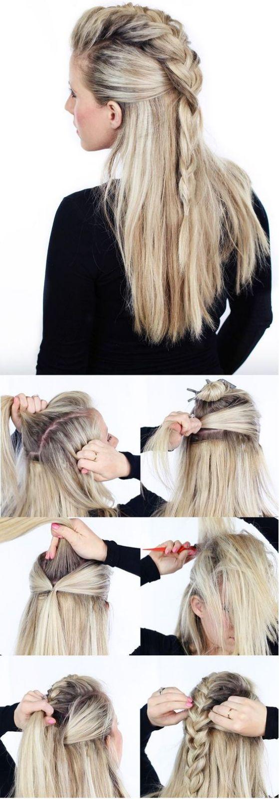 peinaod para cabello largo trenzado