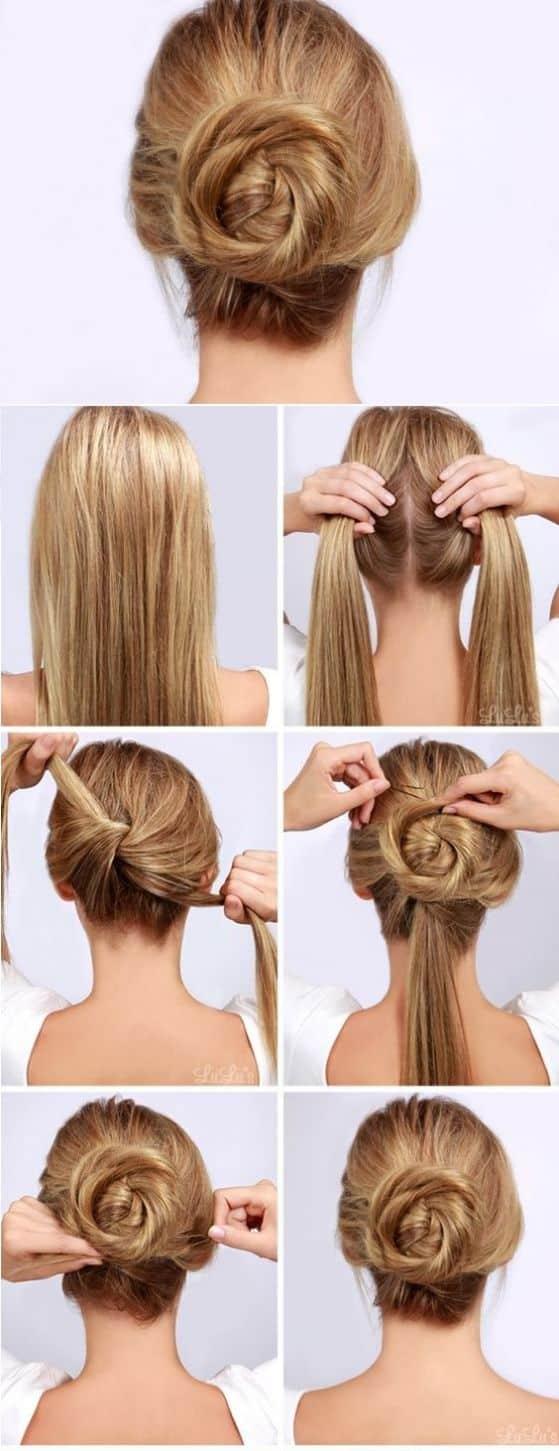 Peinados recogidos en cabello largo