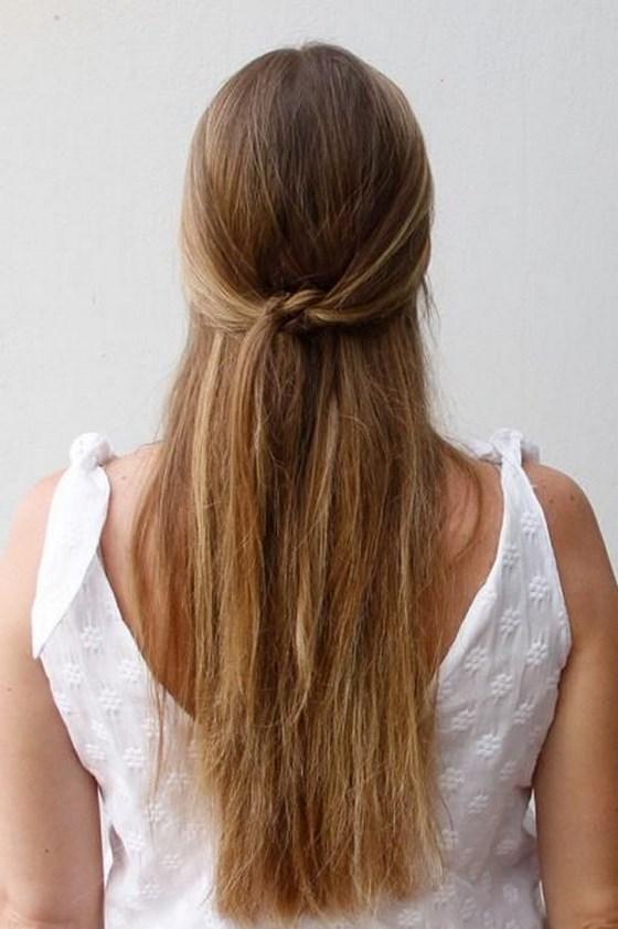 sencilla trenza pelo largo