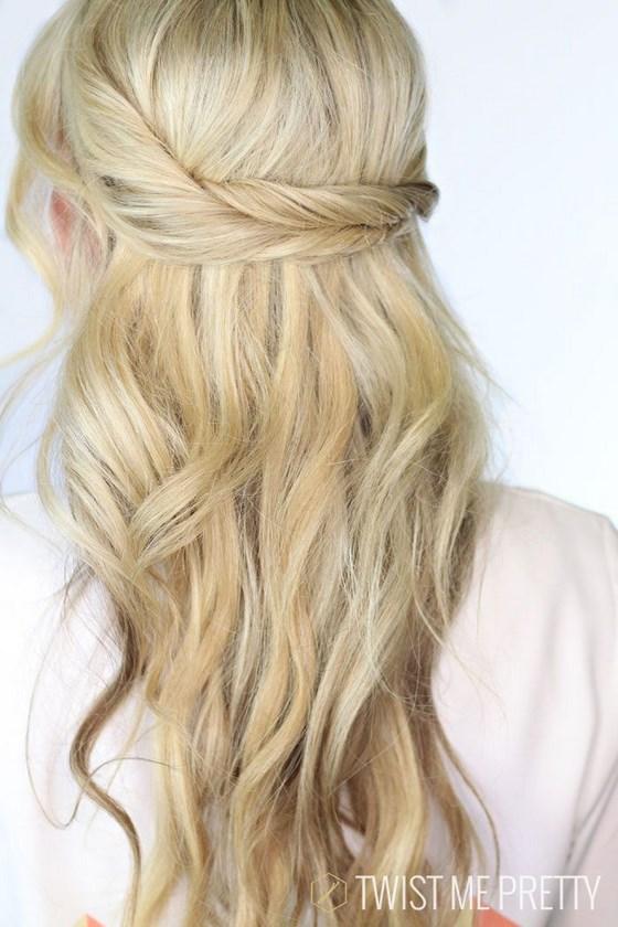 sencillo cruce de cabellos, peinados