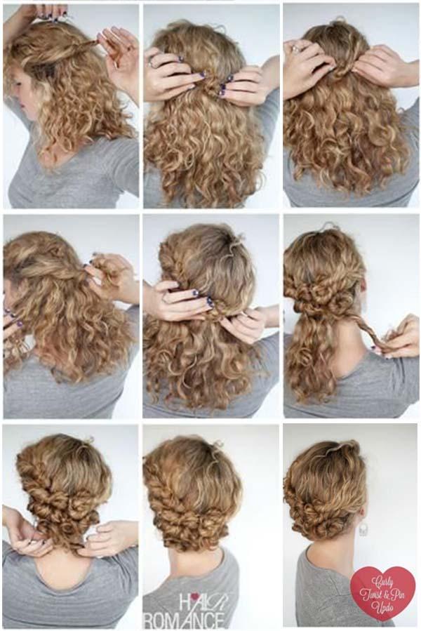 Peinados pelo corto rizado trenza