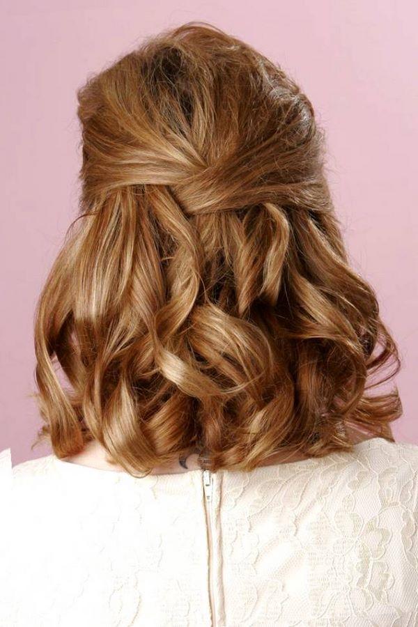 Cabello ondulado estilos y tutoriales de peinados hermosos for Semirecogido rizado