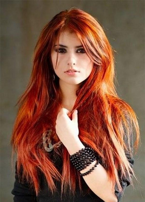 cabello largo tinturado